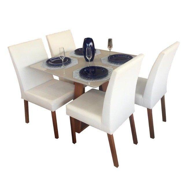 Mesa Vitri 4 Cadeiras 90x90 - Entrega Rápida