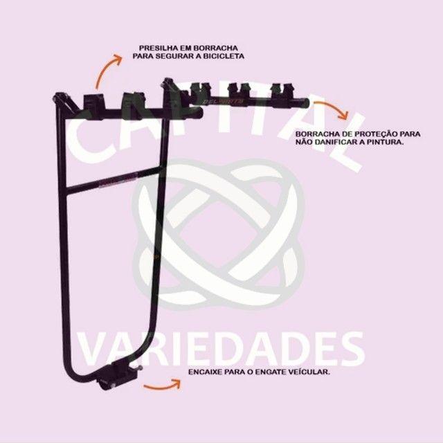 """((Produtos Novos)) Transbike/ Porta bike para bola de reboque. Modelo """"U"""" c/ pulseira."""