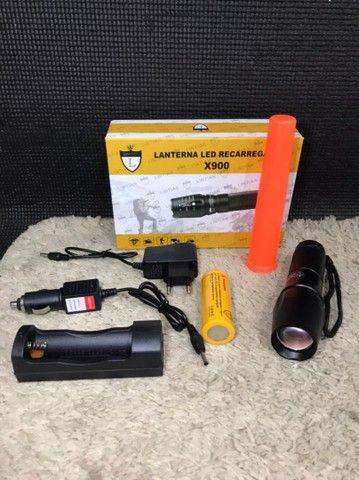 Lanterna led recarregável X-900,Nova a pronta entrega