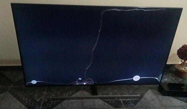 SmartTv Samsung QNN55Q80RAGXZD Tela Estragada + Controle Remoto