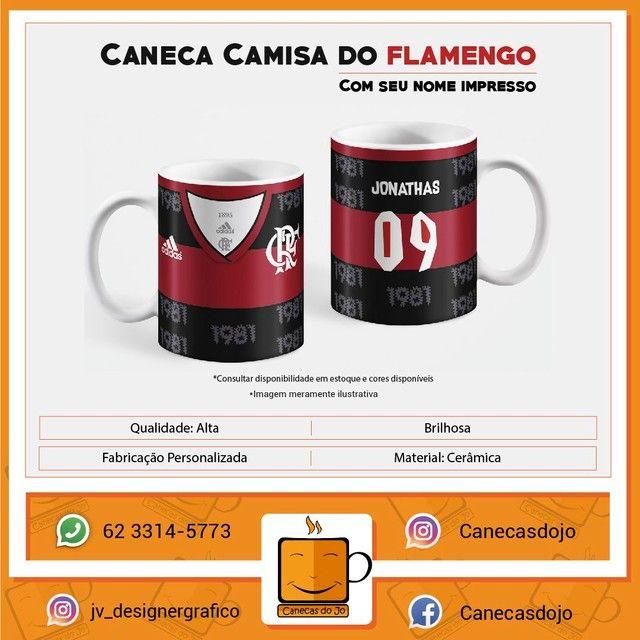 Caneca Personalizada camisa do Flamengo 325ML