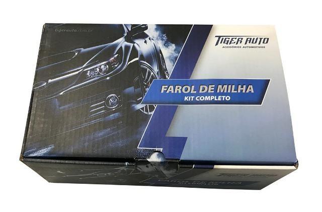 Kit Farol De Milha Botão Original E Moldura Preta Saveiro G6 - Foto 2