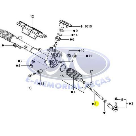 20801-Axial Caixa Direcao Hidraulica Ecosport 2004 A 2009 - 4x4 - Foto 3
