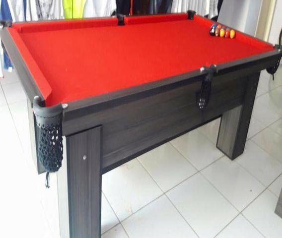Mesa Residencial Cor Dakar Tecido Vermelha Mod. ZRIK4311 - Foto 2