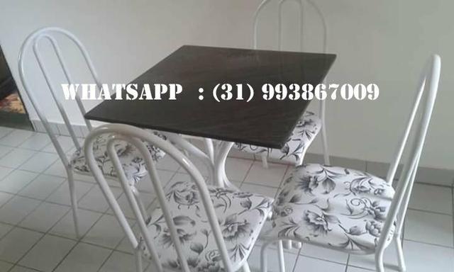 Mesas de 4 Cadeiras Direto Da Fábrica - Foto 6