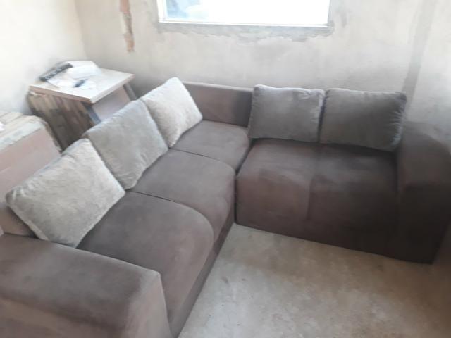 Sofa de canto usado seminovo em serrinha zap *