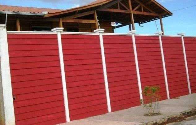 Muro pré-moldado, chapéu de muro premoldado, casa prefabricada