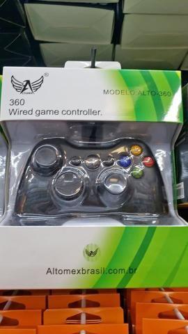 Controle Com Fio Para Xbox 360 Slim / Fat E Pc Joystick -(Loja na Cohab) - Foto 3