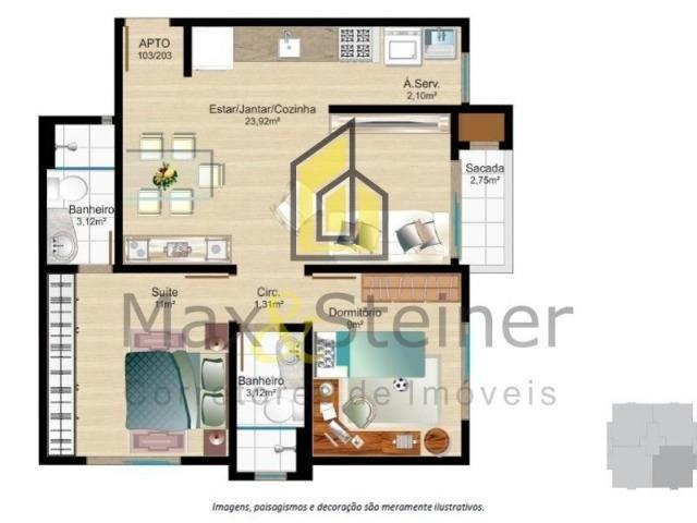 M*Floripa#Apartamento 2 dorms,aceita financiamento bancário. Área nobre - Foto 9