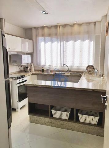 Lindo Apartamento Semimobiliado, 2 Suítes e 1 Quarto, Sacada Gourmet, no Centro! - Foto 17