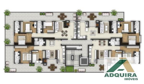 Apartamento com 2 quartos no Le Raffine Residence - Bairro Estrela em Ponta Grossa - Foto 4