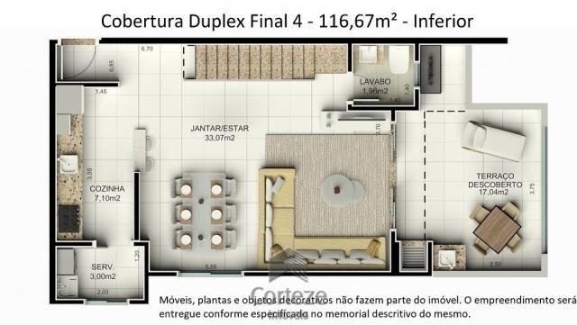 Cobertura duplex 3 quartos no Água Verde - Foto 6
