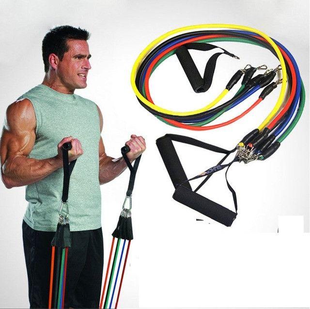 Kit Elásticos Para Exercícios De Resistência 11 Peças CrossFit - Foto 5