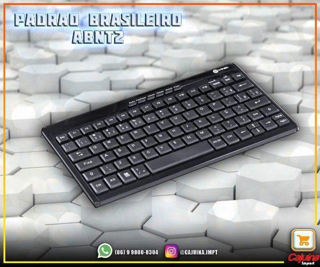 Teclado Mini E Mouse Sem Fio Dynamic Flat Abnt2 1200Dpi Preto Usb - Dc110 M21sd9sd21 - Foto 4