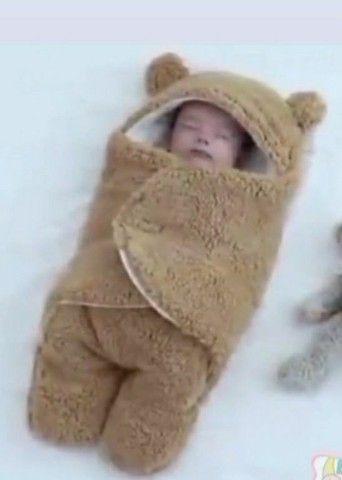 Macacão envelope quentinho bebê  - Foto 2