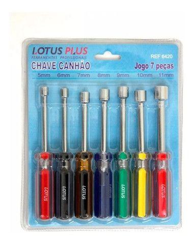 Jogo de Chaves Canhão 7 Peças Lotus - Foto 2