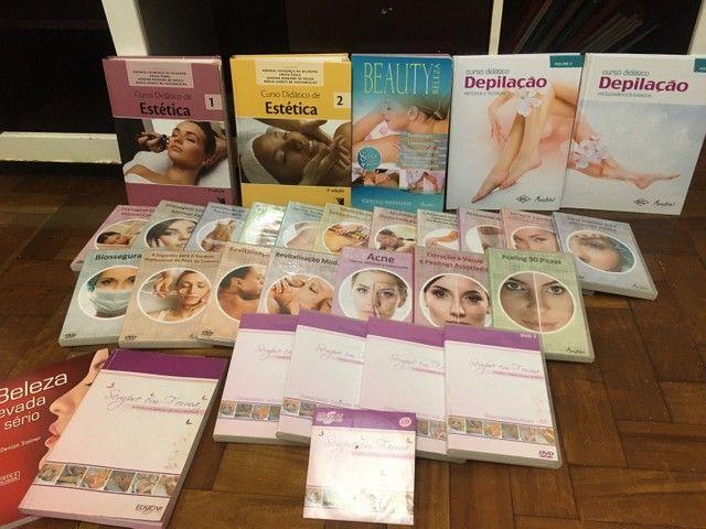 Curso estética facial e corporal, massagens e depilação