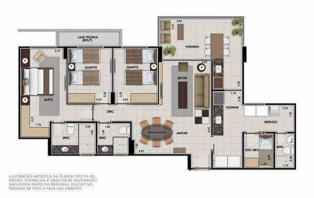 Apartamento para venda tem 114 metros quadrados com 3 quartos em Guaxuma - Maceió - AL - Foto 12