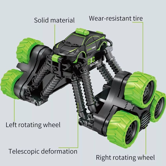 Carrinho Brinquedo Transformar Dublê 360º Gira Alta Velocidade com Controle - Foto 6