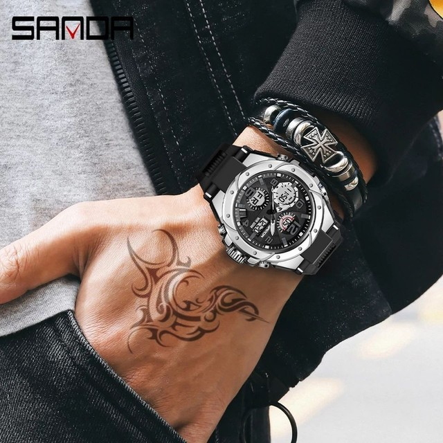 Relógio digital e analógico Sanda - Foto 2