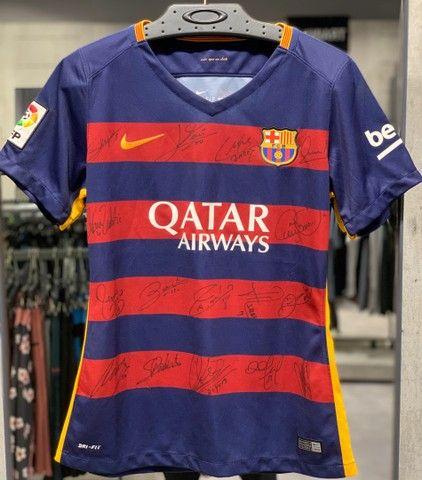 Camisa autógrafada 15/16 Barcelona - Foto 2
