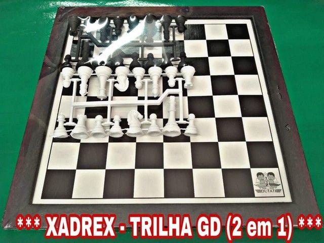 Jogos de xadrez e trilha GD 2 em 1