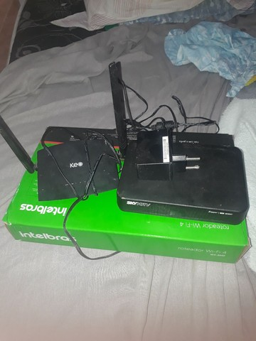 roteador de Wifi + aparelho de sakay
