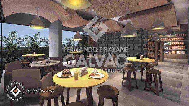 Quarto /Sala  com Varanda Gourmet, financ. banco, 1ª quadra da praia de Jatiúca! - Foto 6