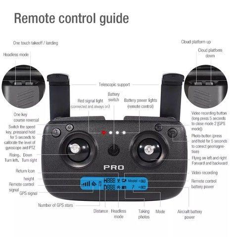 Drone Zlrc SG906 Pro 2 Câmera 4k Funções Siga-me Automatico e volta automático - Foto 4