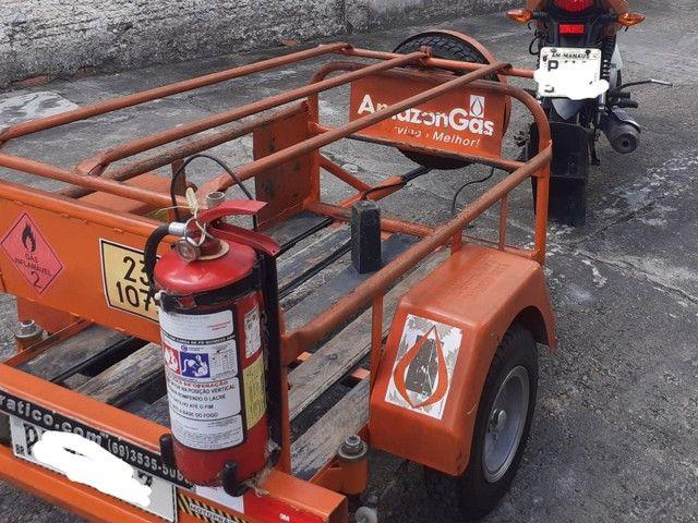 Moto cg 125 cargo com carrocinha - Foto 4