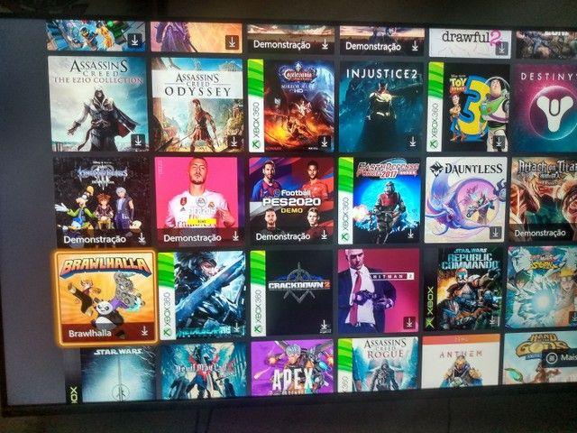 Xbox one com conta com + de 100 jogos  - Foto 3