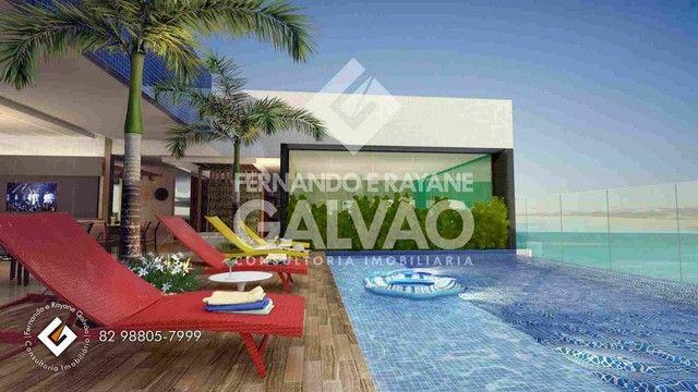 Quarto /Sala  com Varanda Gourmet, financ. banco, 1ª quadra da praia de Jatiúca! - Foto 4