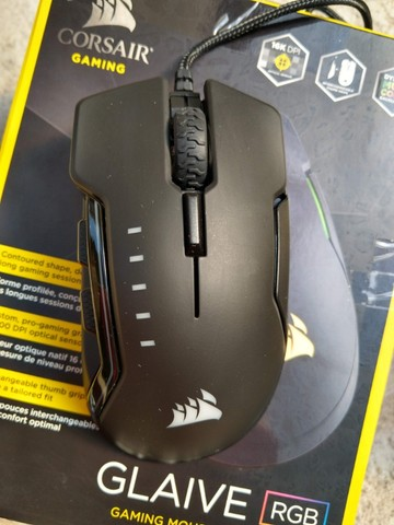 Mouse Gamer Glaive RGB Óptico 16.000 DPI Preto Corsair usado em perfeito estado