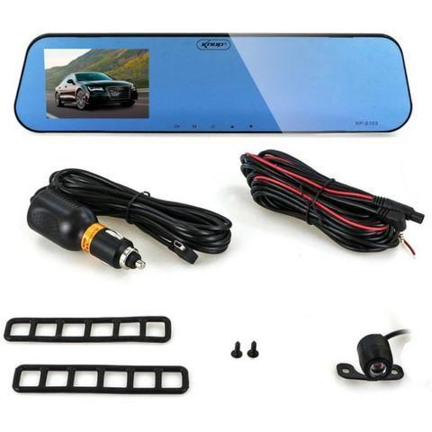 Espelho Retrovisor Tela 4,3 Lcd + Câmera Ré + Câmera Frontal - Foto 3