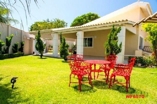 Mansão com 5 suítes, casa duplex, projetada e mobiliada, 7 vagas, rua privativa, Sapiranga - Foto 16