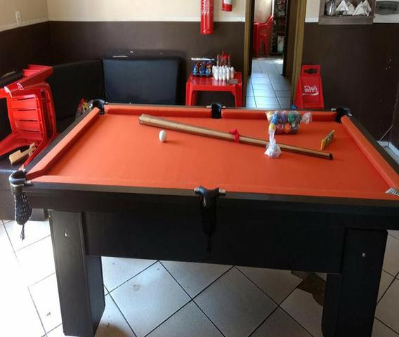 Mesa de Redinha Cor Preta Tecido Laranja Mod. EKZU4517 - Foto 2