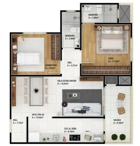 Apartamento 1 Suíte mais 1 Dormitório 74 M² 1 Vaga. No bairro Vila Operária Itajaí - Foto 14