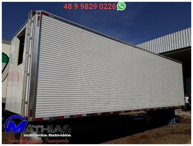 Baú bitruck 16 paletes Niju semi novo truck Mathias Implementos - Foto 4