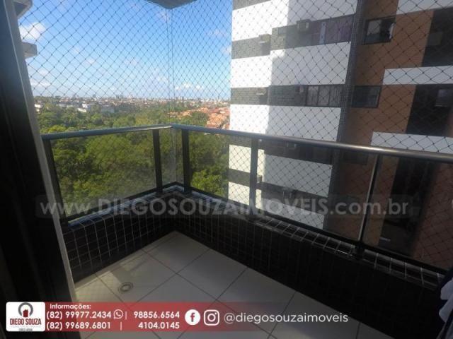 Apartamento para venda em maceió, farol, 3 dormitórios, 1 suíte, 1 banheiro, 2 vagas - Foto 5