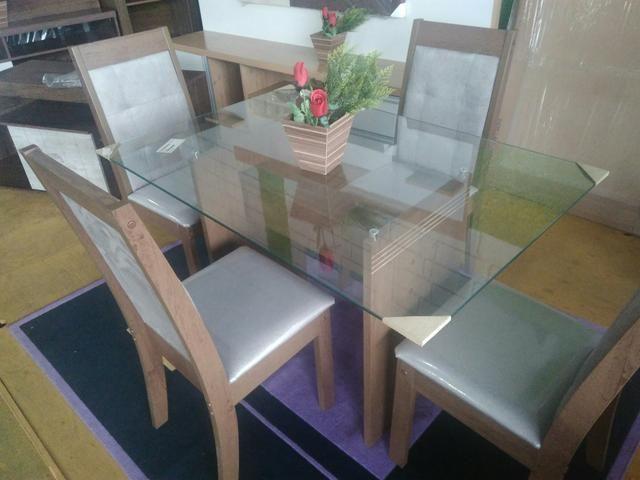Mesa De Jantar 4 Cadeiras Nova - Foto 3