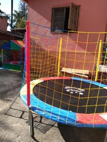 Combo, Locação de brinquedos 2 em 1, cama elástica com piscina de bolas - Foto 3