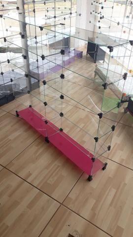 Prateleira, vitrine ou balcão de vidro com pezinho - Foto 3