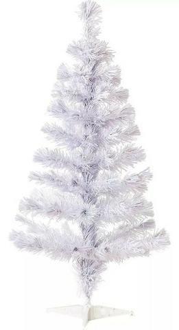 Árvore De Natal Pinheiro Branco 90 Cm- Loja Minichina