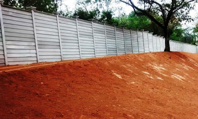 Muro pré-moldado, chapéu de muro premoldado, casa prefabricada - Foto 5