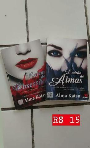 """Livro """"Ladrão de Almas"""" e """"Refém da Obsessão"""" de Alma Katsu"""