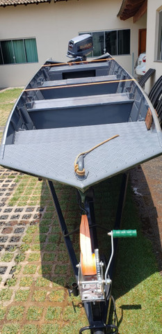 Barco Completo com carretinha e motor - Foto 4