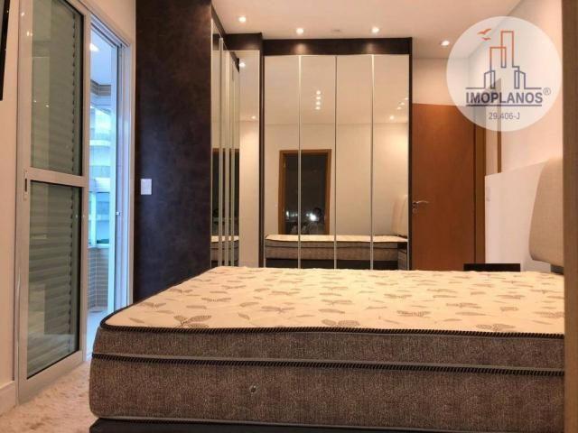 Belíssimo apartamento com 3 dormitórios à venda, 124 m² por R$ 837.585 - Canto do Forte -  - Foto 13