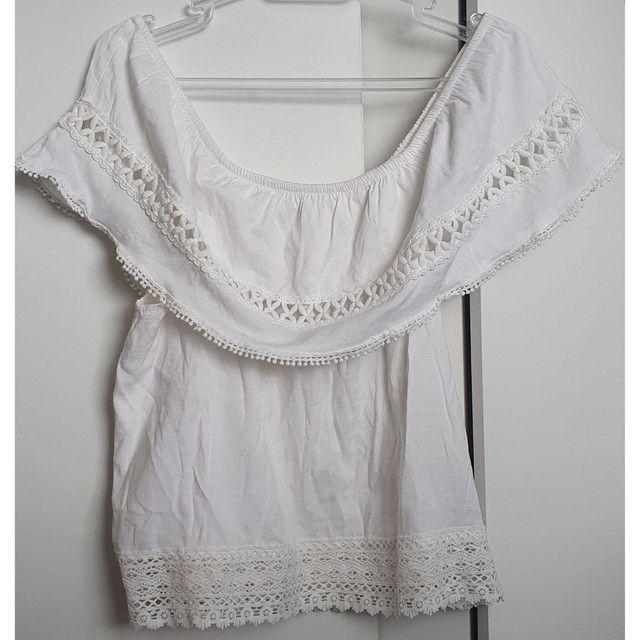 Blusa manga ciganinha - Foto 2