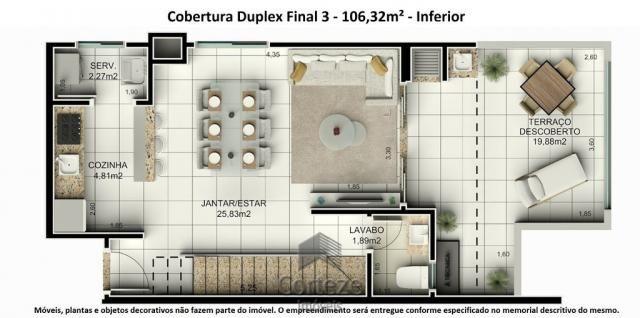 Cobertura duplex 3 quartos no Água Verde - Foto 5