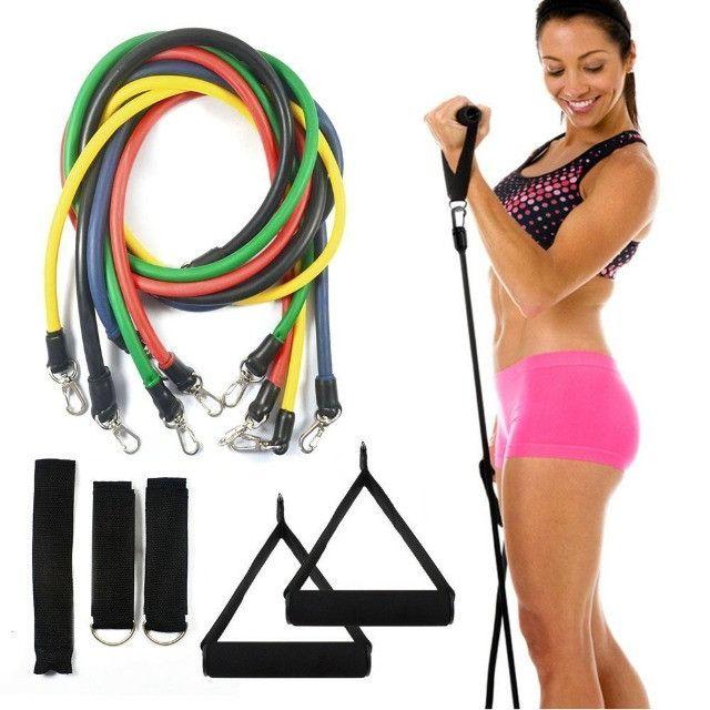 Kit Elásticos Para Exercícios De Resistência 11 Peças CrossFit